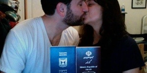 Küssendes Liebespaar